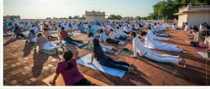 OU yoga on the rooftop